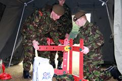 Cambs ACF Cadets on the Leadership stand