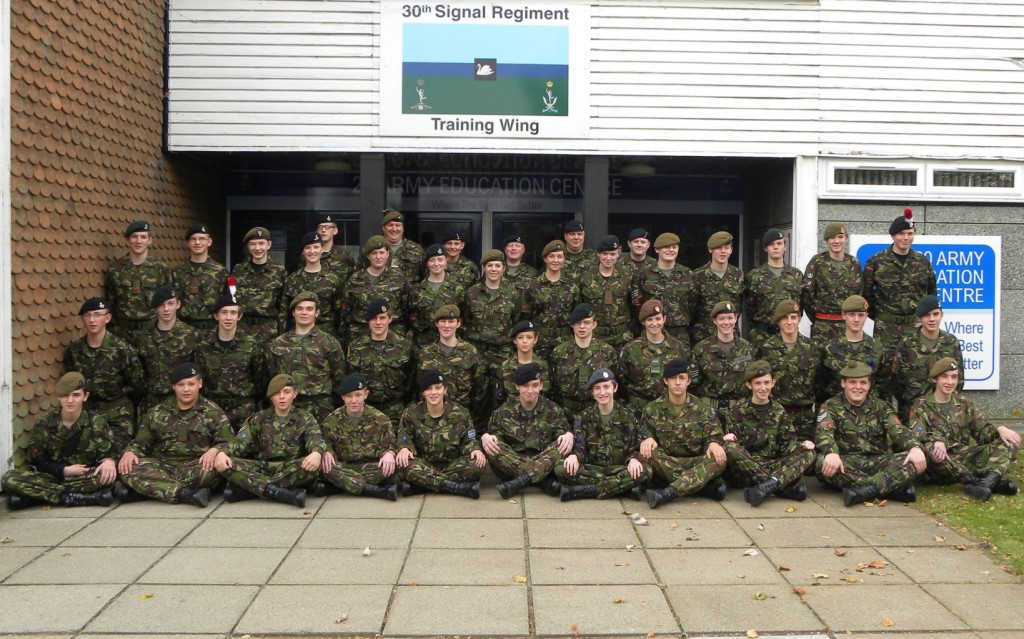 Cadet Advanced VHF (with Signaller Bolt-on) Course Photo – October 2011 (Bramcote)